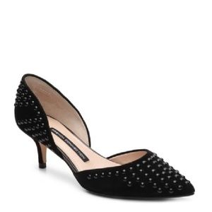 French Connection Efina d'Orsay Kitten Heel Pump